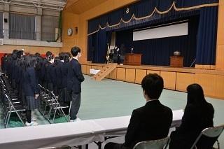 5記念品贈呈式(2年生).JPG
